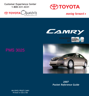 2007 Toyota Camry Hybrid Pocket Reference Guide